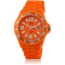 Ρολόι Χειρός Q&Q A430J005Y Πορτοκαλί