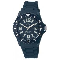 Ρολόι Χειρός Q&Q A430J010Y Μπλε σκούρο
