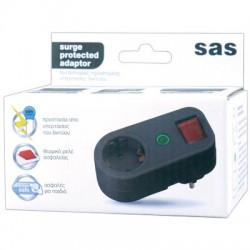 SAS 100-15-031 Αντάπτορας ρεύματος με προστασία υπέρτασης