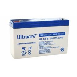 Μπαταρία μολύβδου Ultracell UK 6V - 12,0 Ah