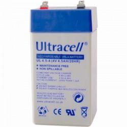Μπαταρία μολύβδου Ultracell UK 4V - 4,5 Ah