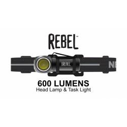 Φακός Κεφαλής NEBO REBEL 600 Lumens Επαναφορτιζόμενος NE6691